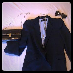 Zara navy blue structured blazer size S